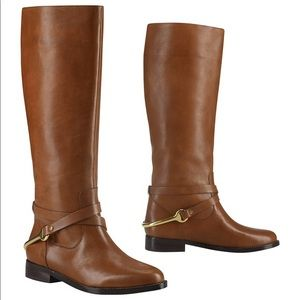 Ralph Lauren Jenny Brown Leather riding Boot